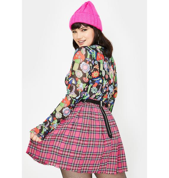 Current Mood Pretty Sweet Dress Code Plaid Skirt