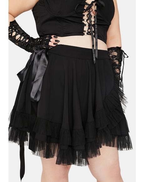 Infinite Chaos Magic Wrap Mini Skirt