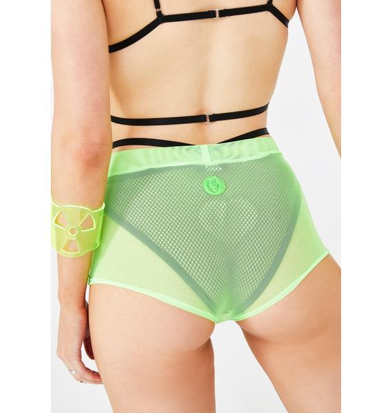 Cyberdog Neon Mesh Hot Pants