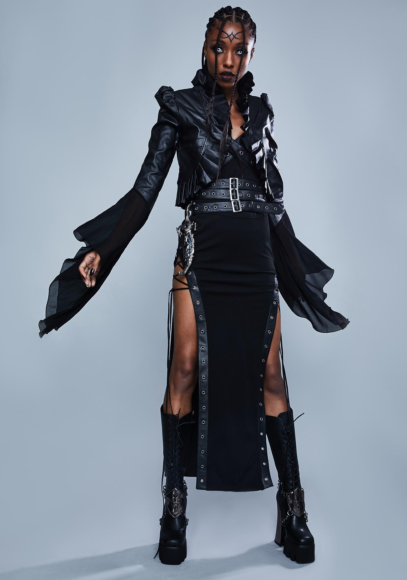 Widow Final Reckoning Buckled Maxi Skirt