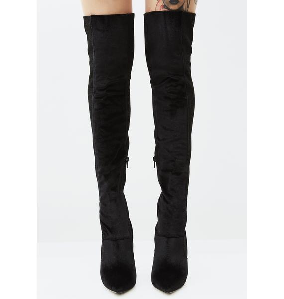 Midnight Goddess Among Us Thigh-High Boots