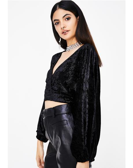 Ride For You Velvet Crop Top