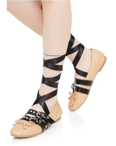 Swan Song Lace-Up Flats