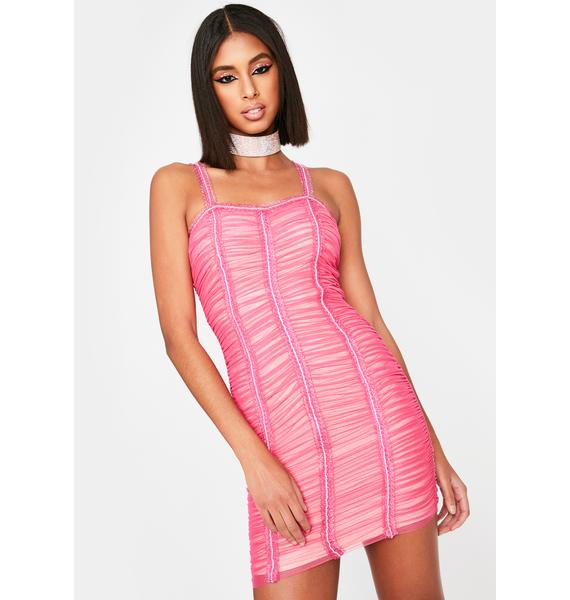 Pretty Mad About You Ruched Dress