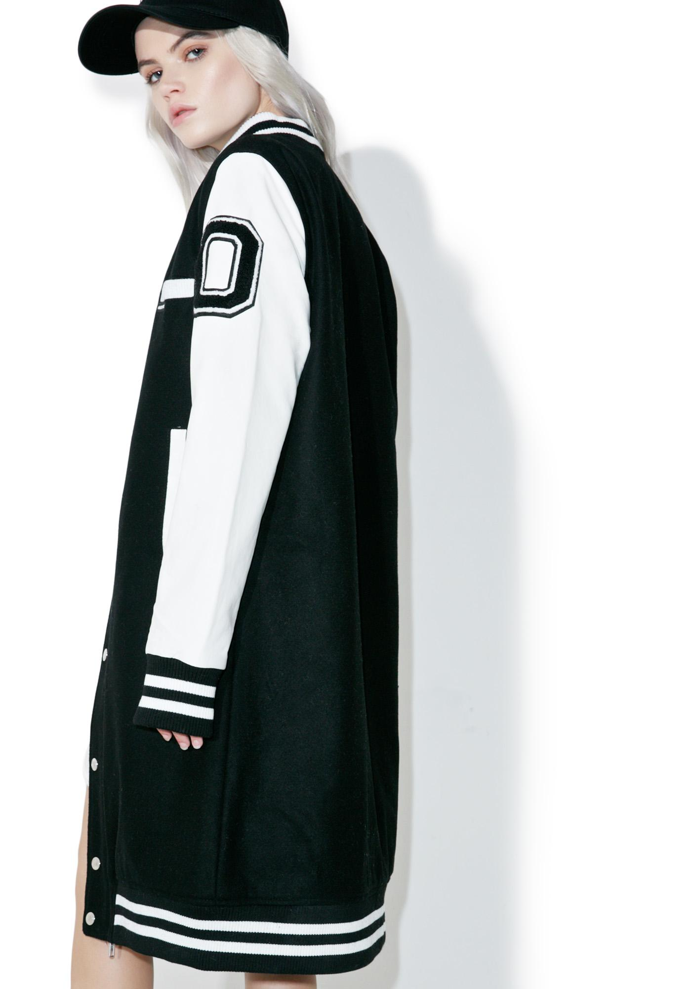 Members Only Long Varsity Jacket