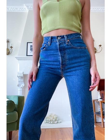 Georgie Straight Ankle Ribcage Jeans