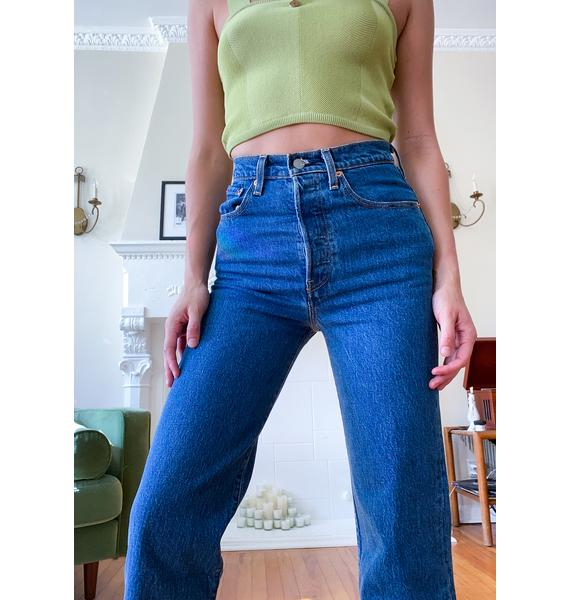 Levis Georgie Straight Ankle Ribcage Jeans