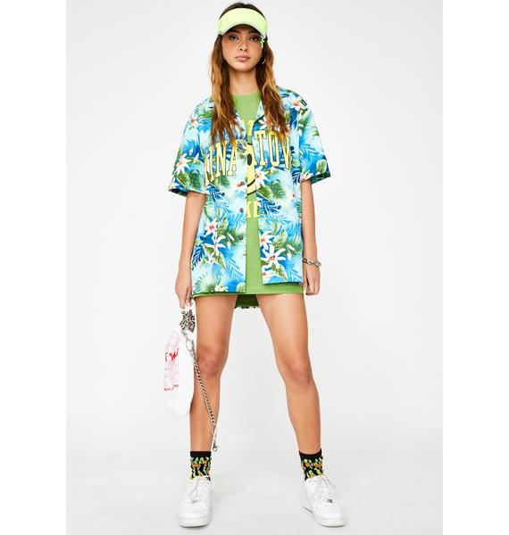 CHINATOWN MARKET Arch Hawaii Button Down Tee