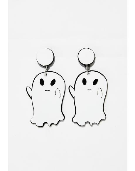 Spooked Ghost Earrings