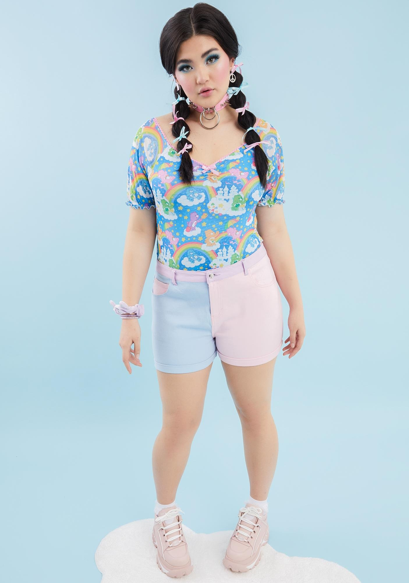 Dolls Kill x Care Bears Your Sharing Is Caring Mesh Top