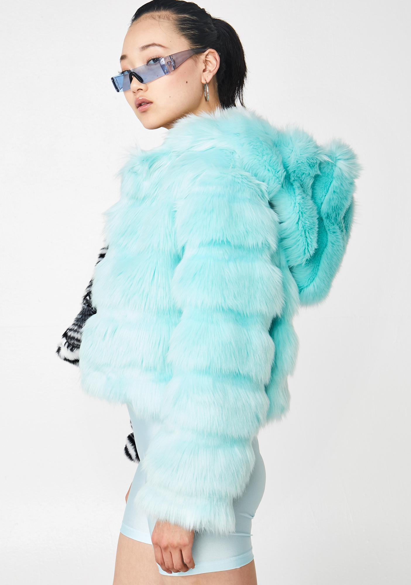 Ivy Berlin Two Faced Faux Fur Jacket
