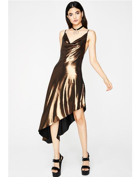 Prized Possession Metallic Dress