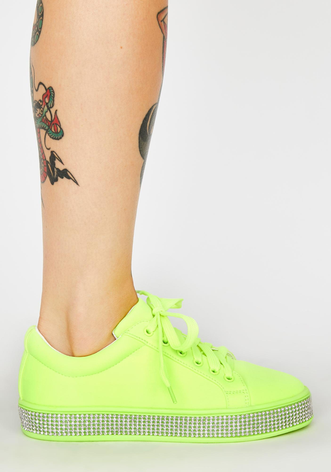 Toxic On The Roxxx Rhinestone Sneakers