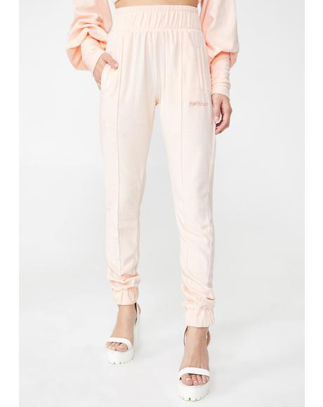 Blush Track Pants