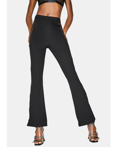 Game The System High Waist Flares