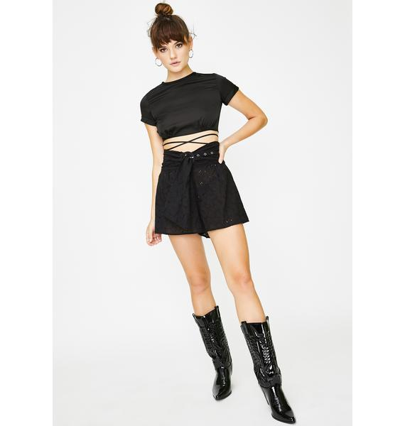 Lioness Black Miss Independent Shorts