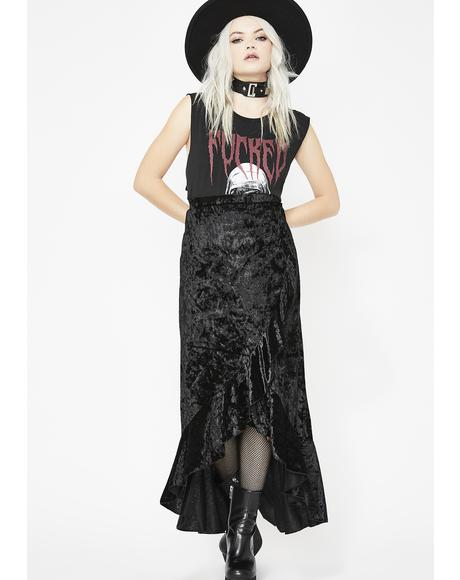 What A Witch Wants Velvet Skirt