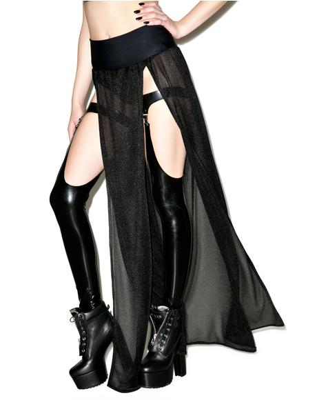 Right Thru Ya Dual Slit Maxi Skirt
