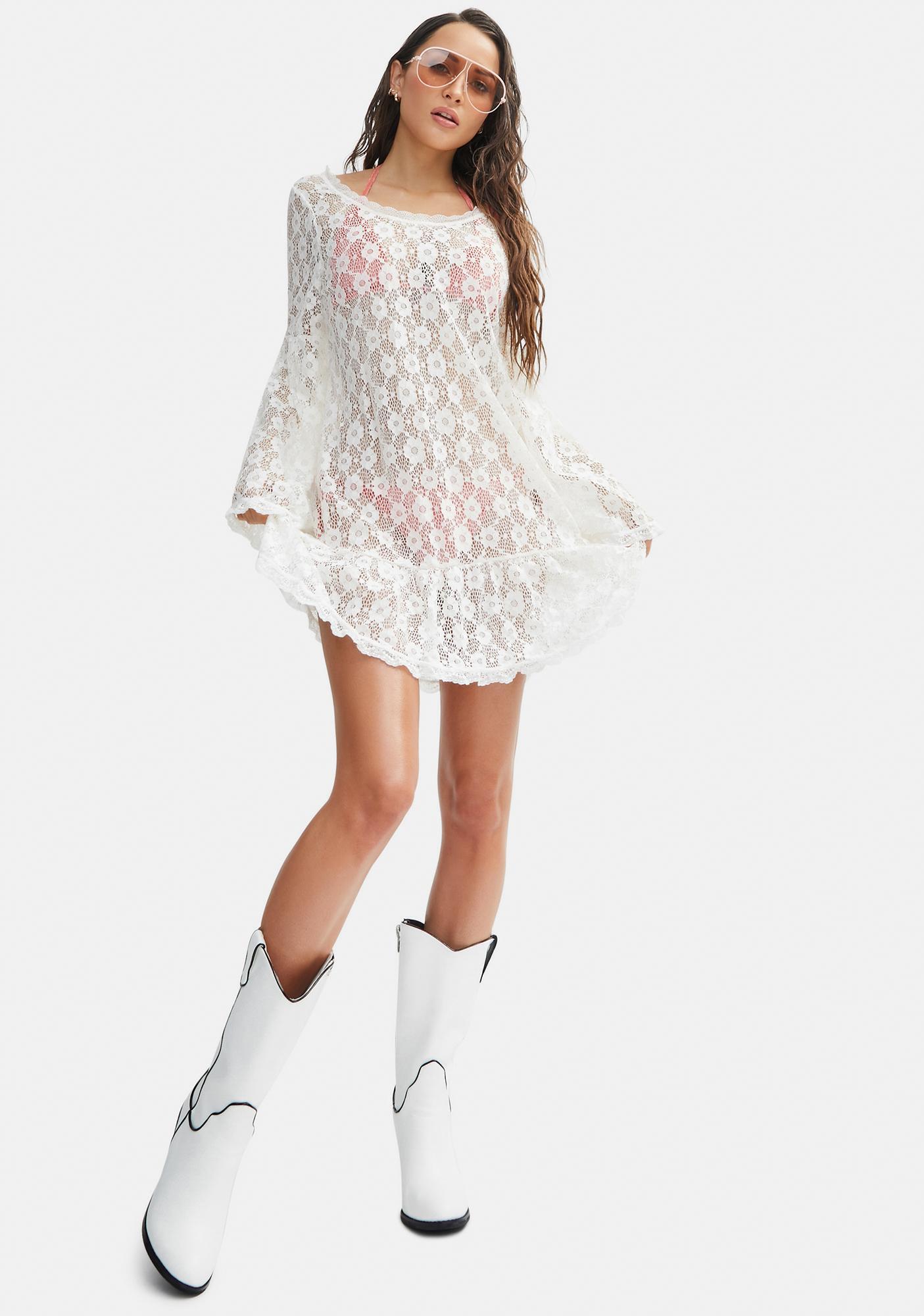Power 2 the Flower Crochet Isabella Daisy Dress