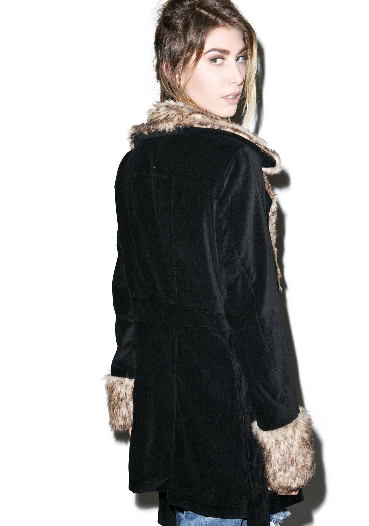 Mink Pink Midnight in Moscow Coat