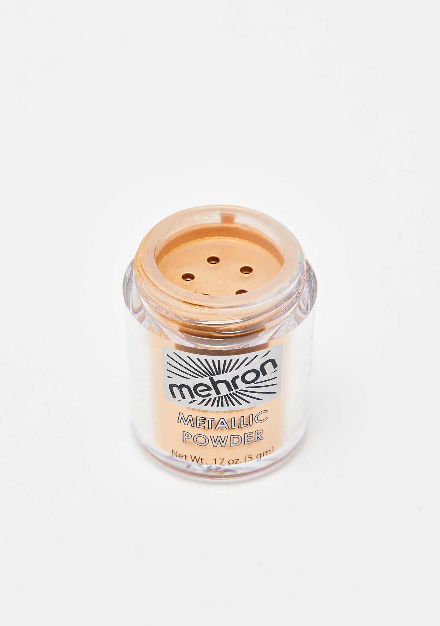 Mehron Gold Metallic Powder With Makeup Remover Lotion