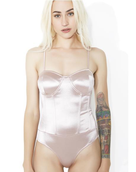 Sweet Darla Satin Bodysuit