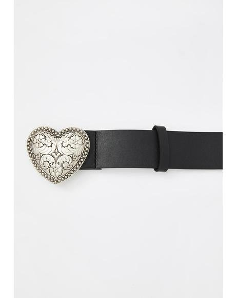 Lounge Heart Buckle Belt