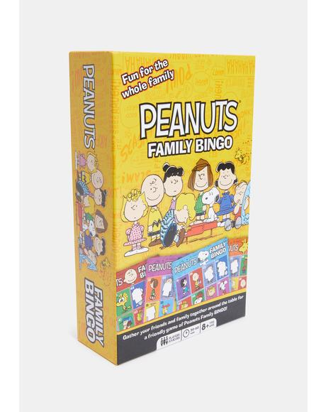 Peanuts Family Bingo Game