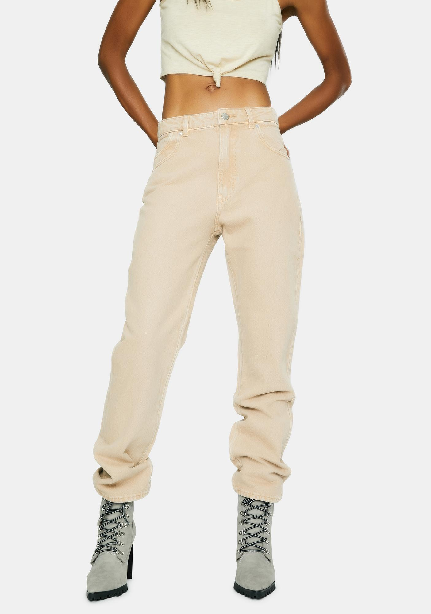 Rollas Sand Original Straight Leg Denim Jeans