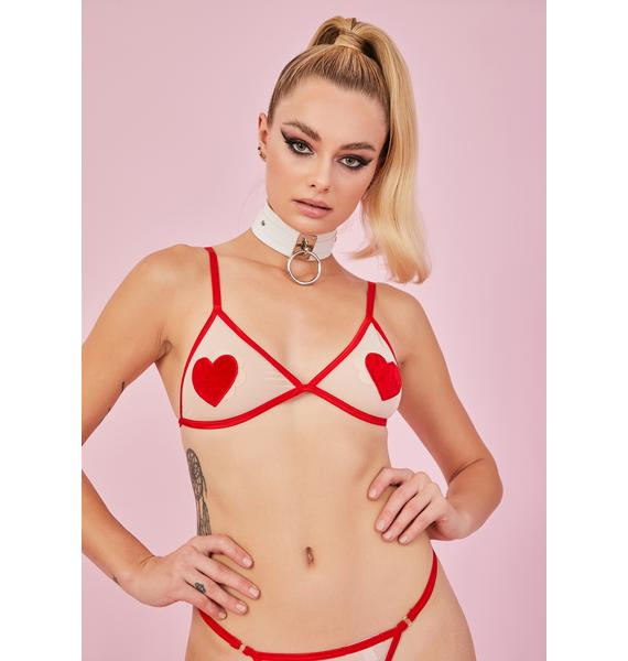 Sugar Thrillz Nude Heart Desires Bra