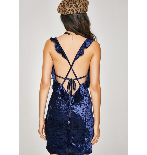 Flirty Feelin' Velvet Dress