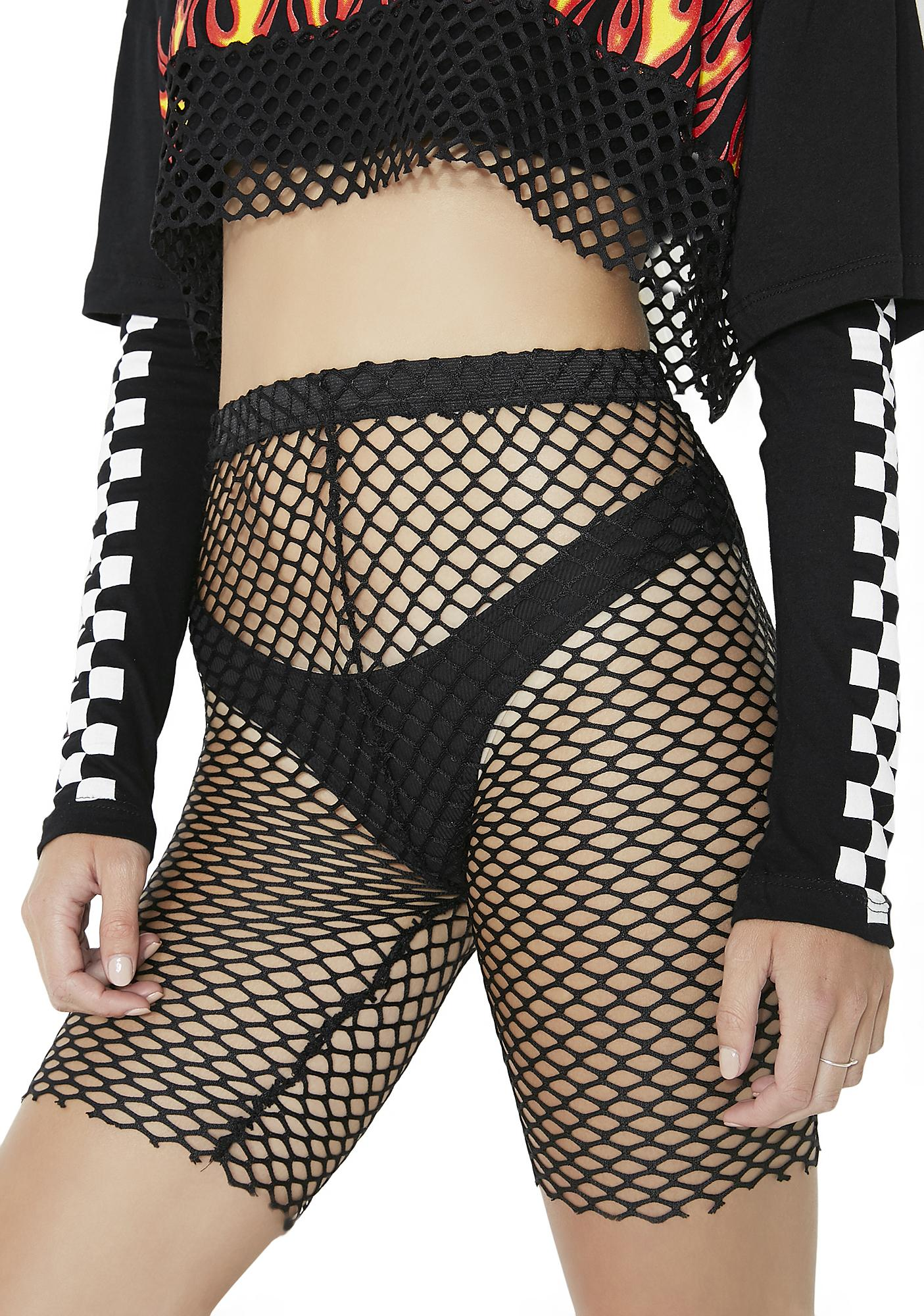Sure Shot Mesh Bike Shorts