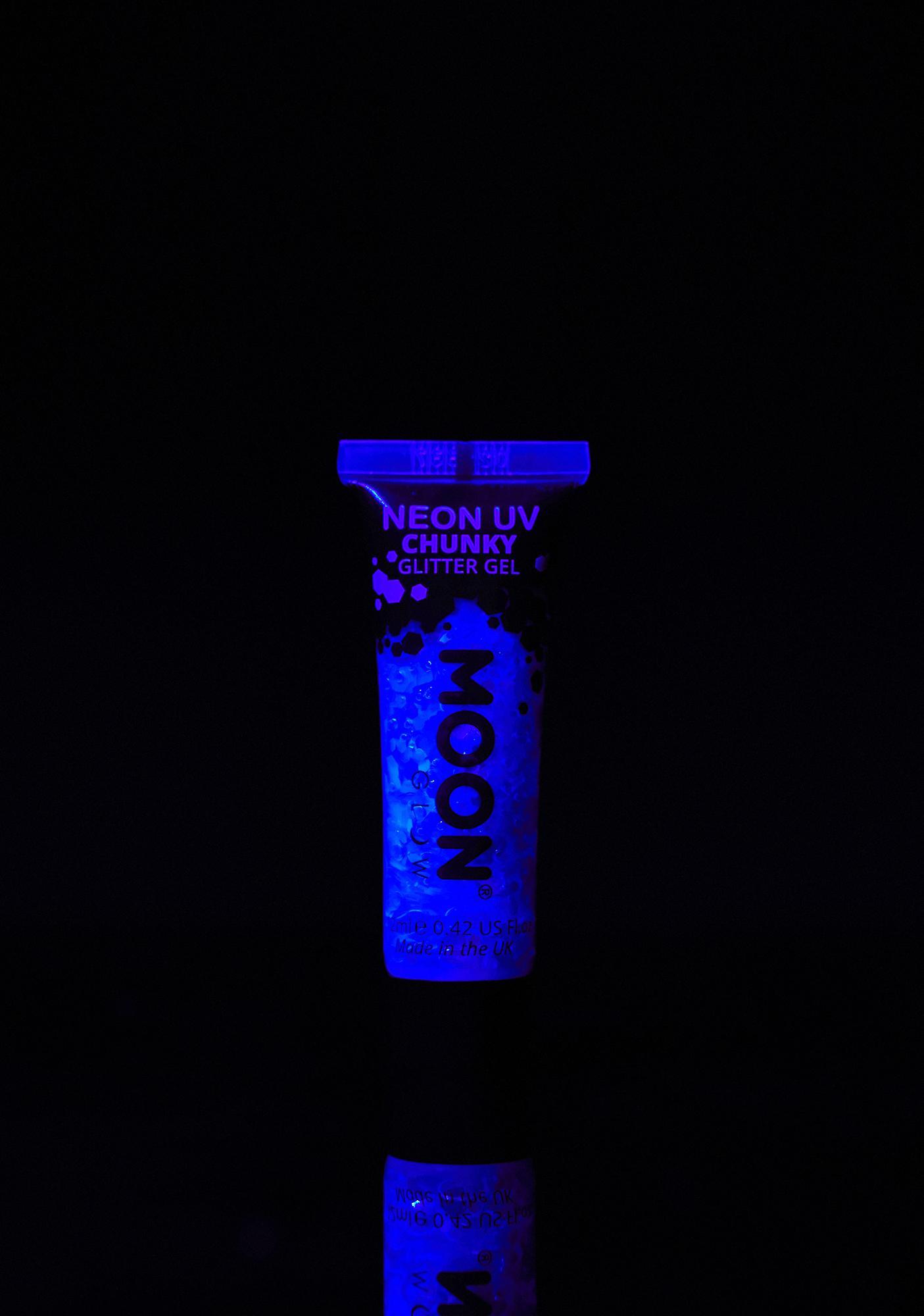 Moon Creations Blue UV Chunky Glitter Gel