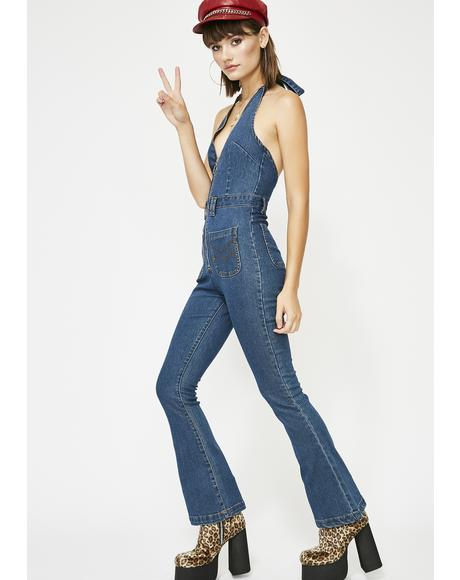 Saturday Night Fever Denim Jumpsuit