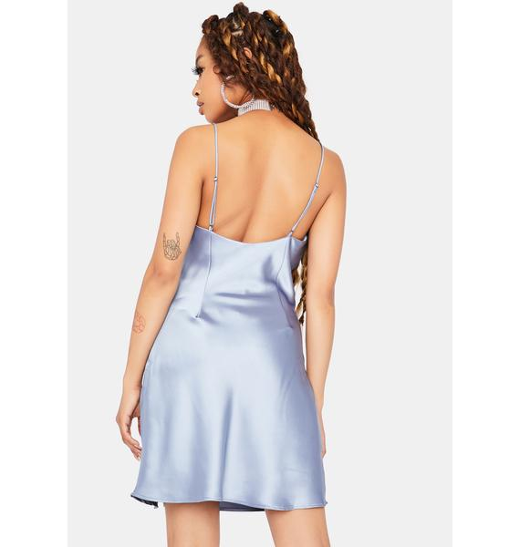 Champagne All Day Satin Dress