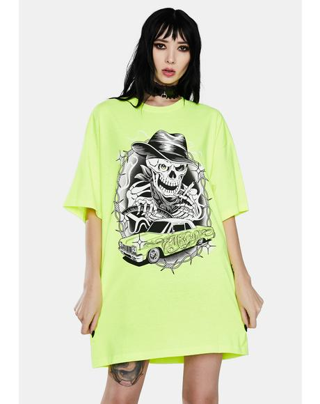 Slime Let Death Take The Wheel Graphic Tee