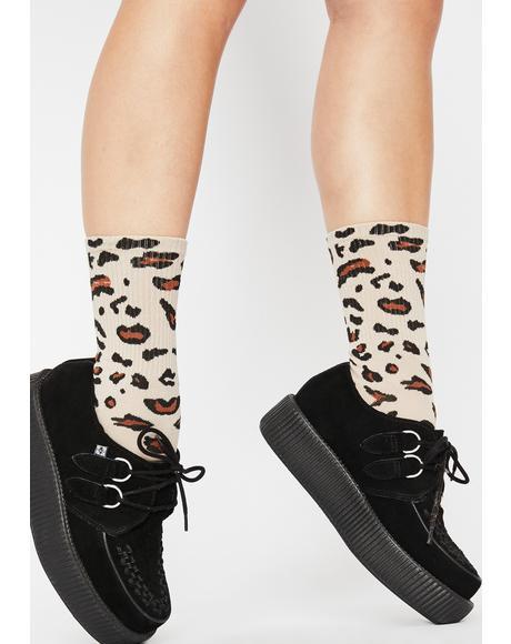 Pounce Back Leopard Socks