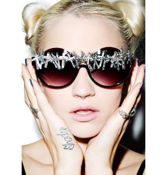 Gasoline Glamour Cross-Eyed Peekaboo Sunglasses