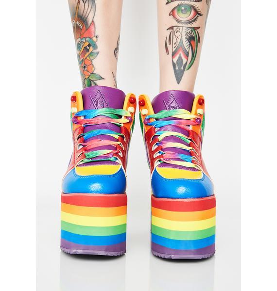 Y.R.U. Qozmo Pride Platform Sneakers