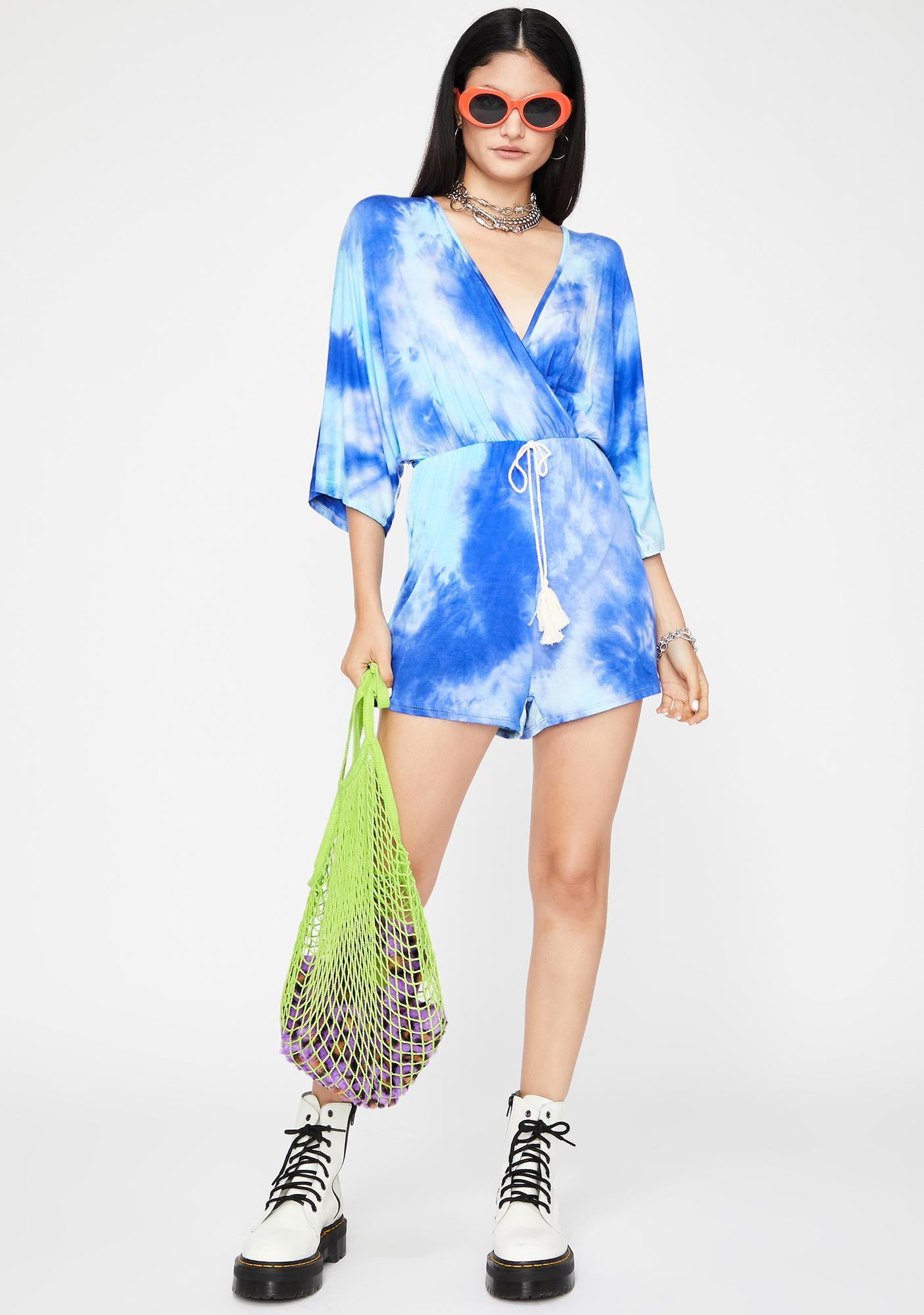 Summer Ain't Over Tie Dye Romper