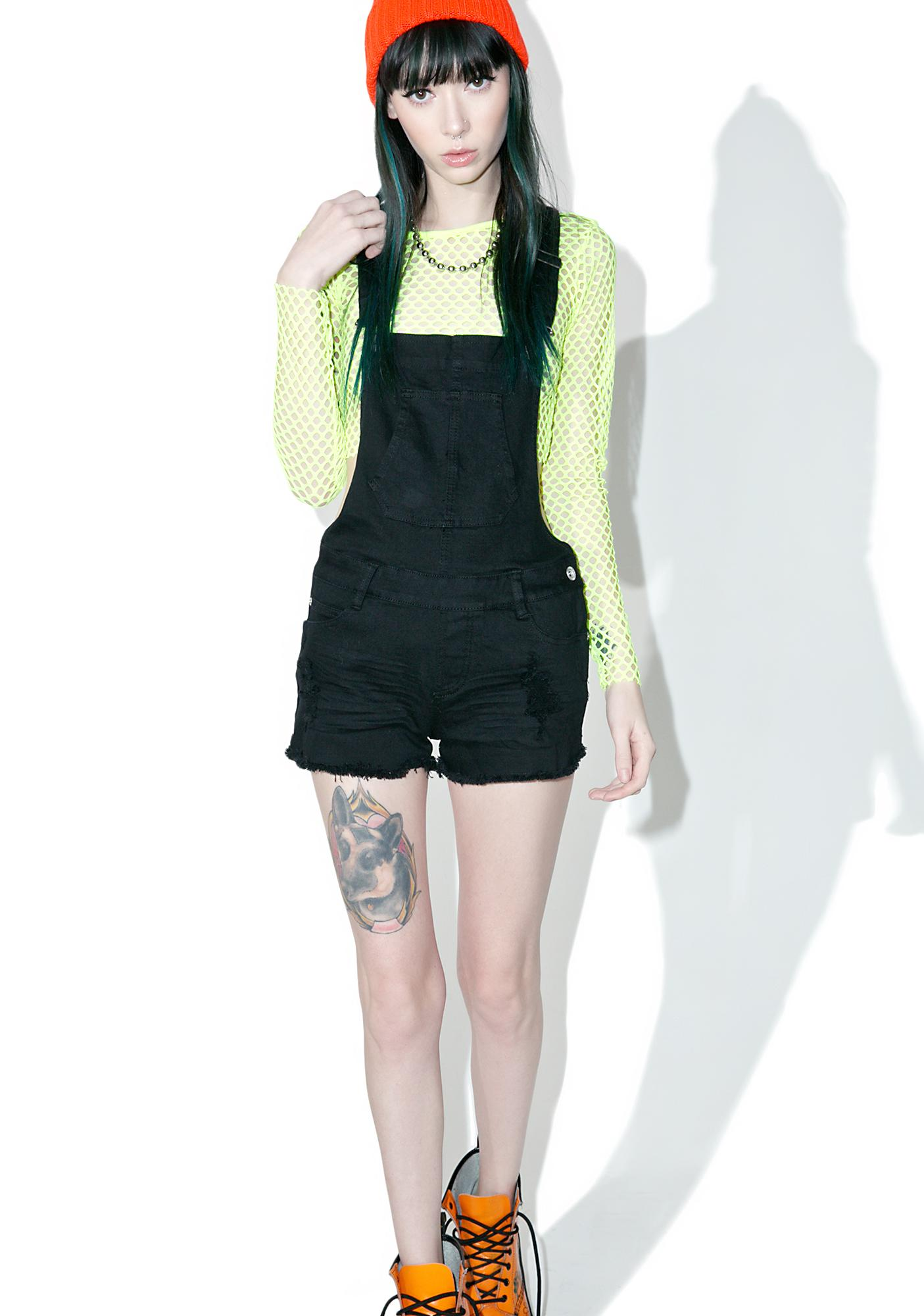 Rabble-Rouser Distressed Overalls
