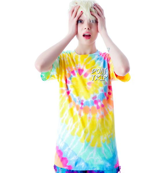 Shown To Scale Don't Trip Tie Dye Tee