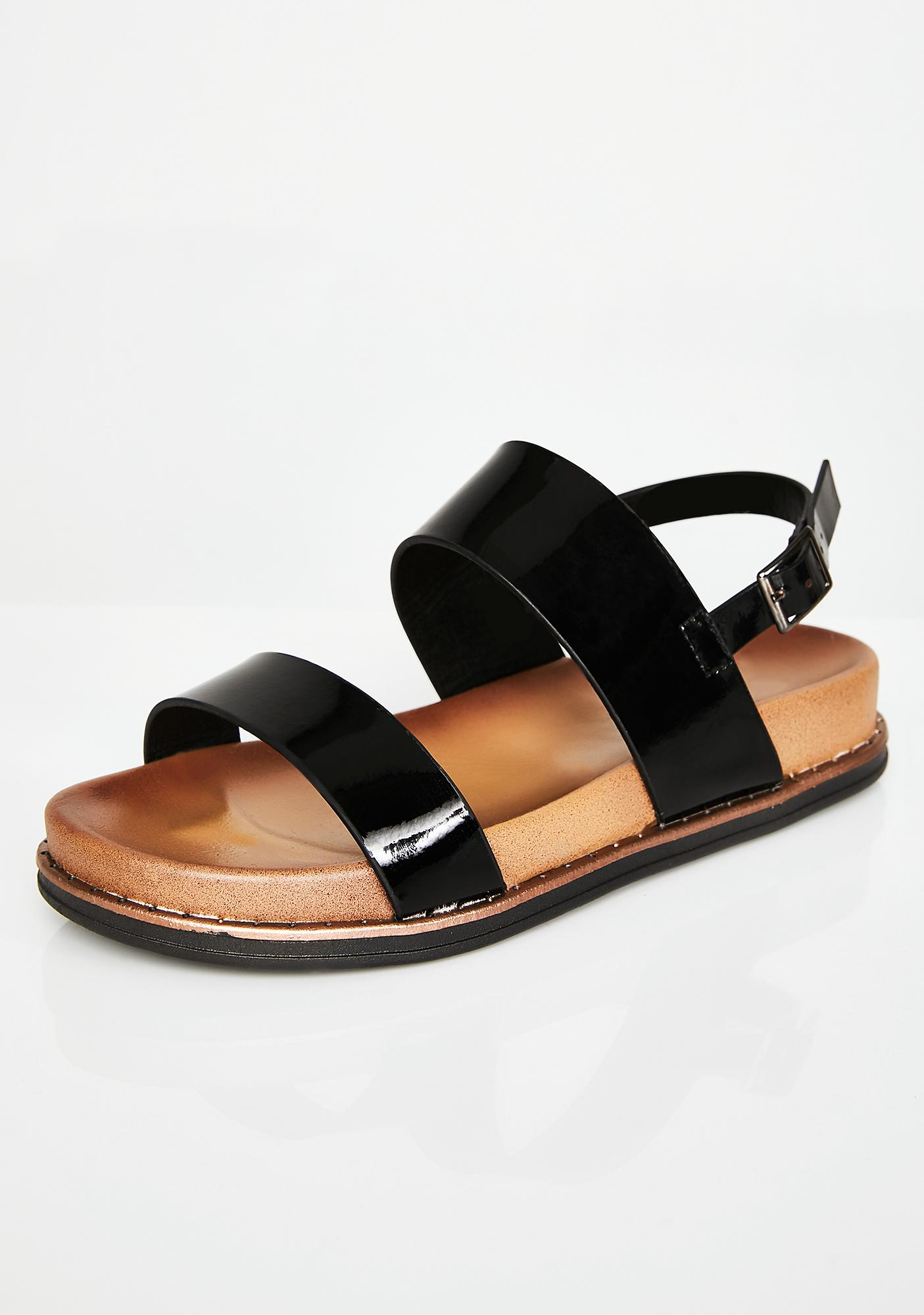 Get Right Patent Sandals