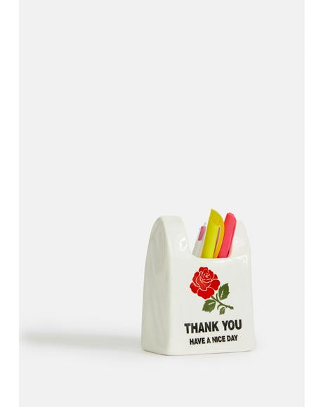 Thank You Ceramic Pen Holder