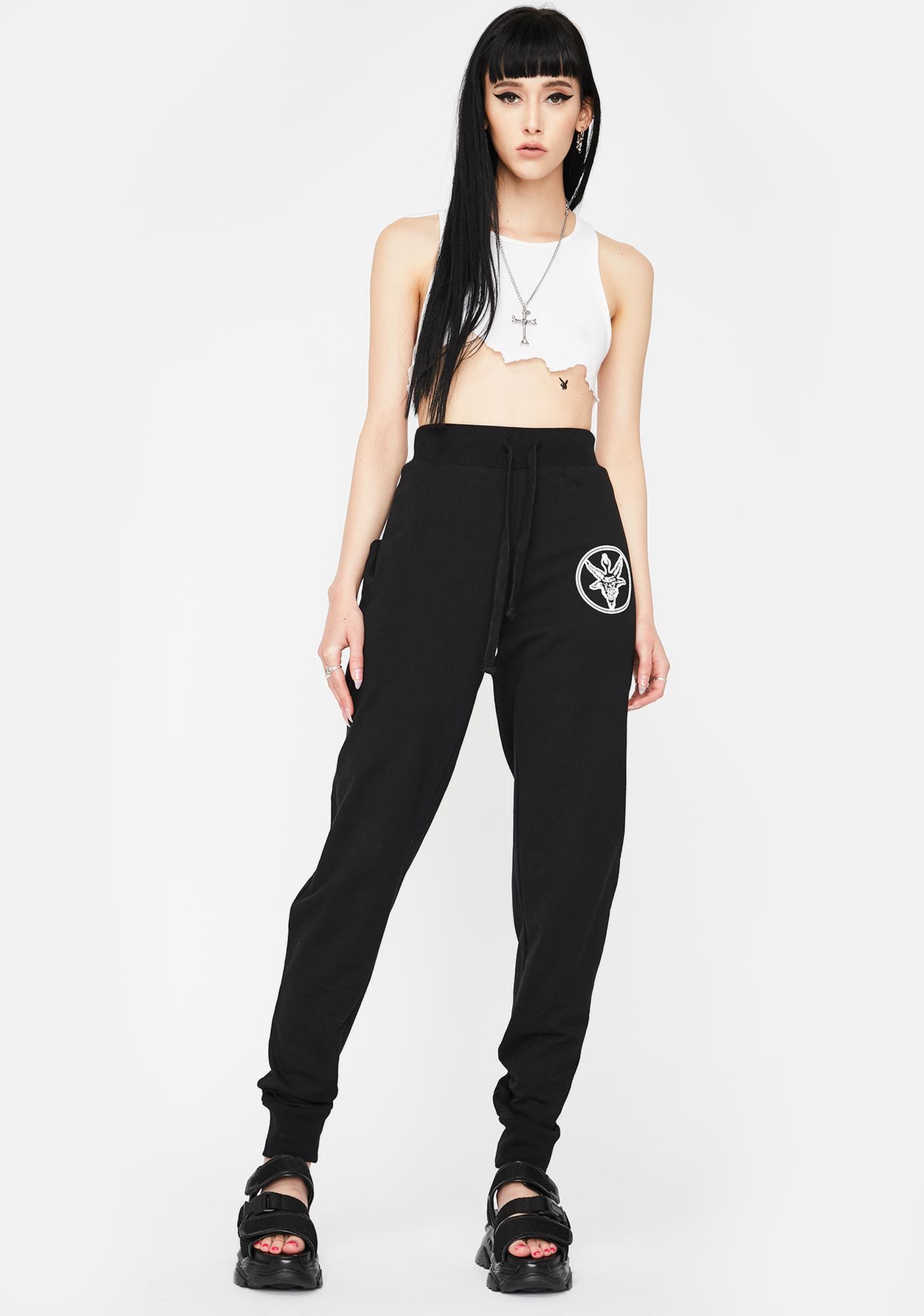 Long Clothing Baphomet Jogger Sweatpants