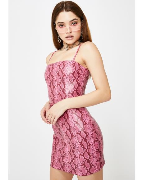 Pink Viper Mini Dress
