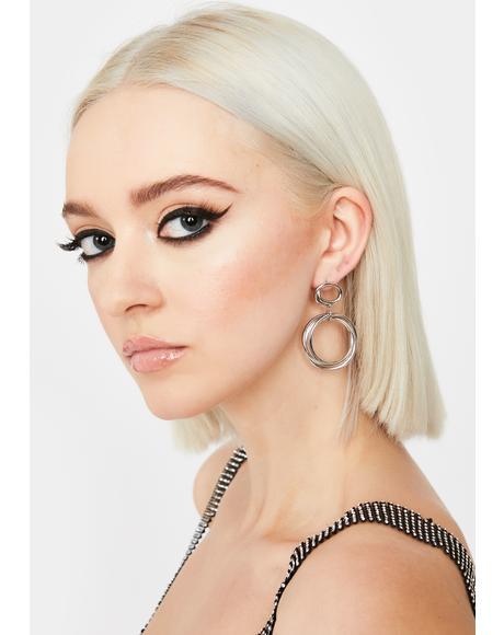 Infinite Motion Hoop Earrings