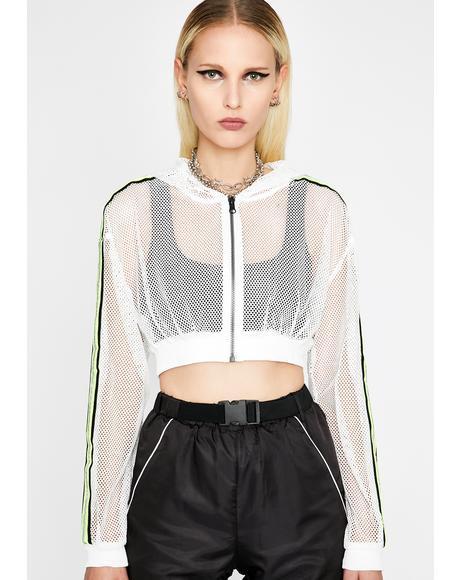 Icy Reflective Flexx Crop Jacket