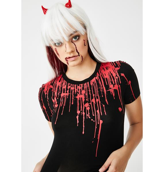 Dolls Kill Bloody Hell Graphic Tee