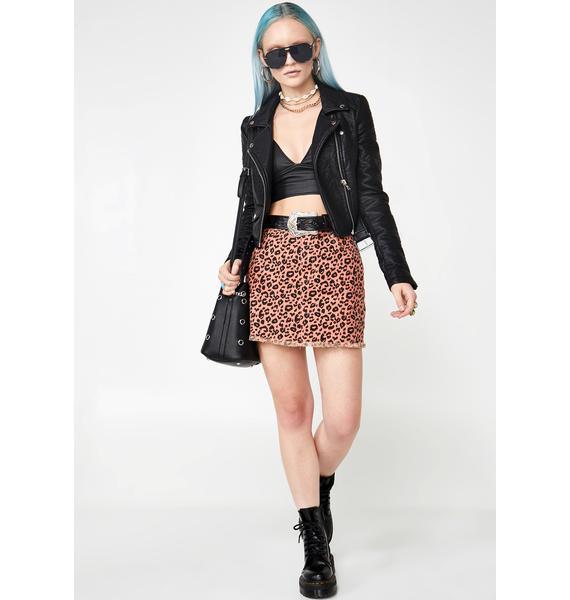 She Cat Sass Leopard Skirt